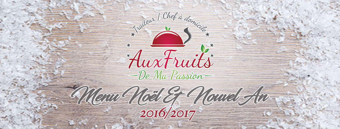 Menu Noël & Nouvel An 2016/2017