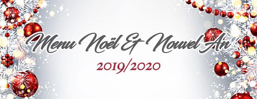 Découvrez notre menu pour Noël et Nouvel An 2019-2020