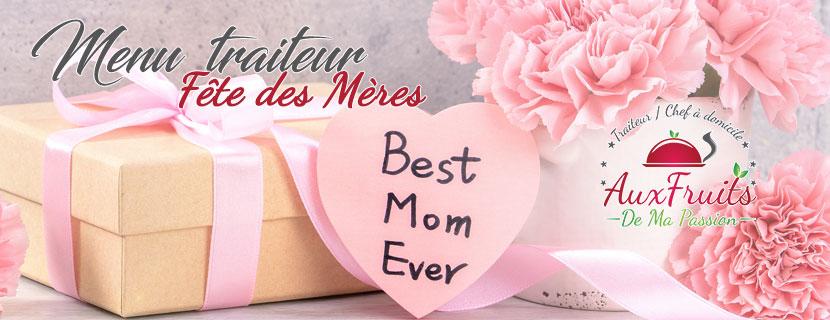 Menu traiteur fête des mères 2020